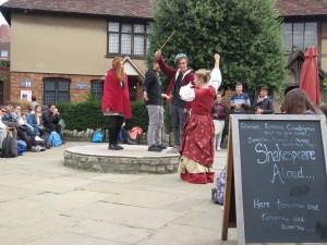 Interactieve workshop Shakespear tijdens TTO Taalreis Leamington Spa
